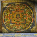 Throughout the area are examples of religious art in various styles – you don't have to go inside a monastery or gompa to see them! This mandala is painted on the 'gate' to Marpha town