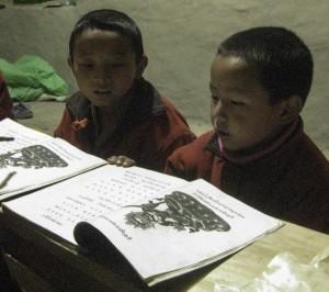 Pema Gyalpo and Dawa learn chokey c.2014 S Barakzai